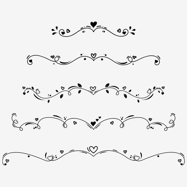 Set Collection Of Vintage Ornament Elements Hand Drawn Vector Dividers Doodle Design Elements Ornaments Vintage Dividers Doodle Png And Vector With Transpare Doodle Designs Heart Doodle Doodles