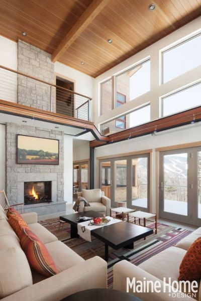 Living room in Maine HOME + DESIGN