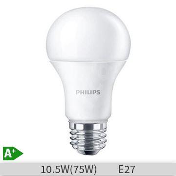 Bec LED Philips forma clasica 10.5W, E27, 3000k, lumina calda, 929001162301
