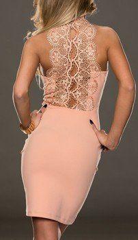 WOMAN MINI DRESS SPINE APRICOT
