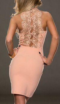 WOMAN MINI DRESS SPINE APRICOT
