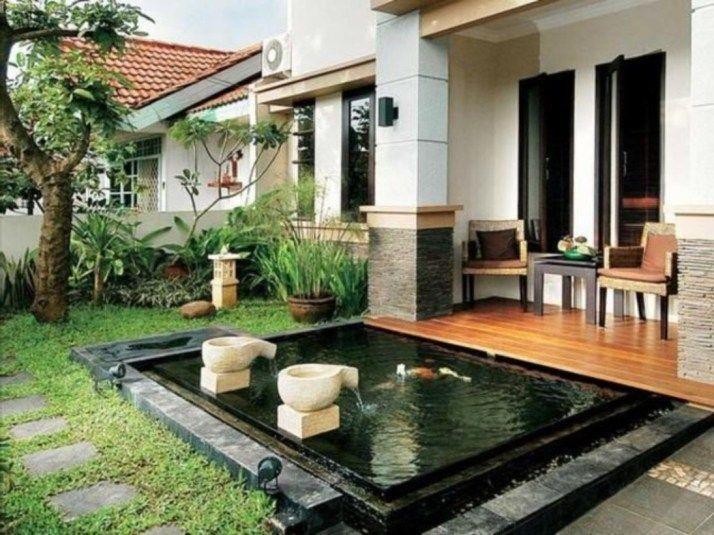 Cute Minimalist Fishpond Design For Privacy Small Backyard 29 Minimalist Garden Minimalist Home Porch Design