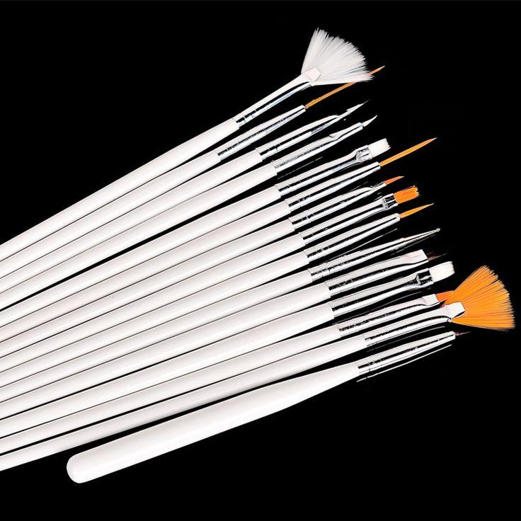 Alta qualidade 15 pcs prego professinal Art Brush Set Design pintura Pen para falso Nail dicas UV unhas de Gel polonês mais novo alishoppbrasil