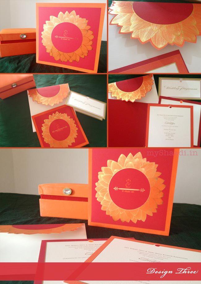Indian Wedding Invitation Cards: Trendy Design Ideas   Myshaadi.in#India#Wedding Cards#Marriage Invitations#Indian Weddings