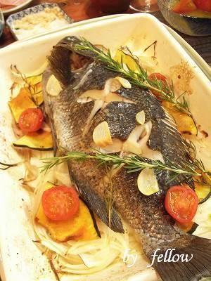 ◆メジナ料理一覧|fellowの美味しい物大好き メジナのハーブ焼き