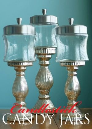 These candlestick candy jars were so easy to make and are going