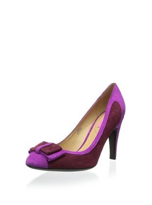 72% OFF Isaac Mizrahi New York women's Leah Pump (Magenta/Burgundy)