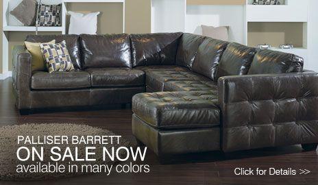 Palliser Barrett 77558 leather sectional