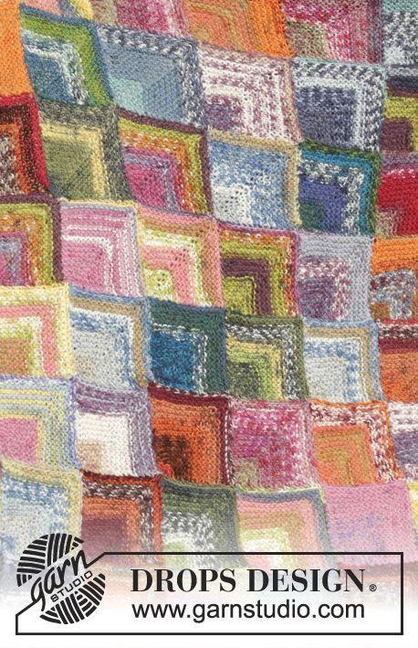 Georgia Afghan Knitting Pattern : Free Pattern log cabin blanket Pinterest Gratis ...