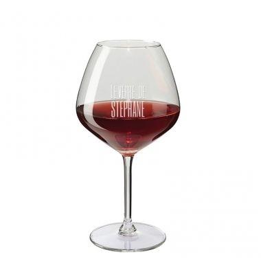 Cadeau malin: Verre à vin personnalisé dégustation prénom