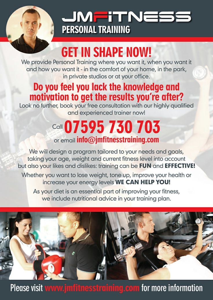 Personal Training Flyers Examples Leaflet design , leaflets and ...
