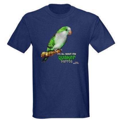 Amazon.com: Quaker Parrot Humor Dark T-Shirt by CafePress: Clothing