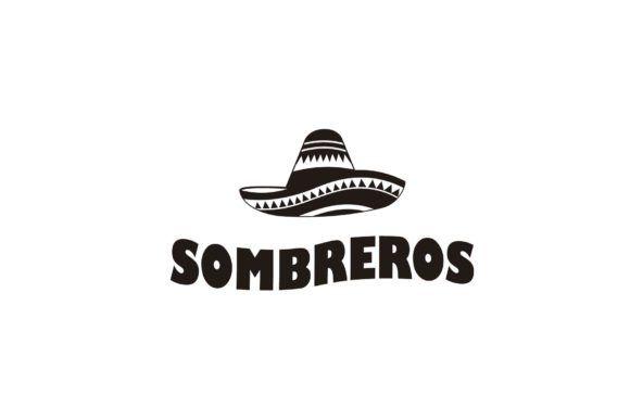 Mexican Hat Sombrero Icon Logo Vector