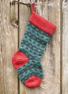 Discover three must-have knit stocking patterns for Christmas, including the Fireplace Christmas Stocking.