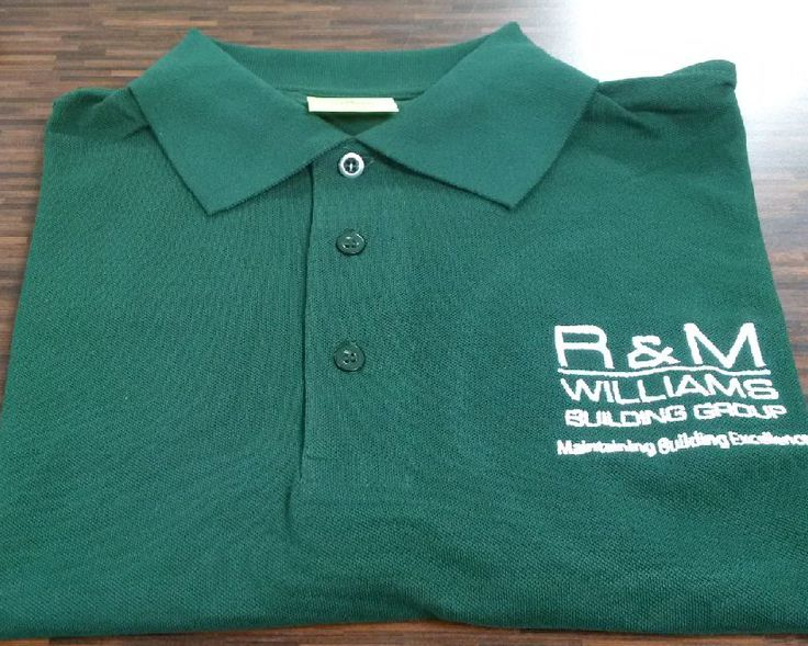 Latest embroidered #workwear supplied for R & M Williams in #Cardiff