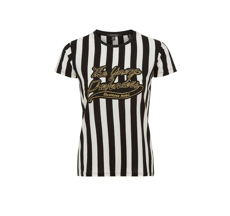 Nieuwe collectie Maison Scotch . MAISON SCOTCH T-SHIRT SS GRAPHIC #maisonscotch #inspiratiezomer #shirts #stripes