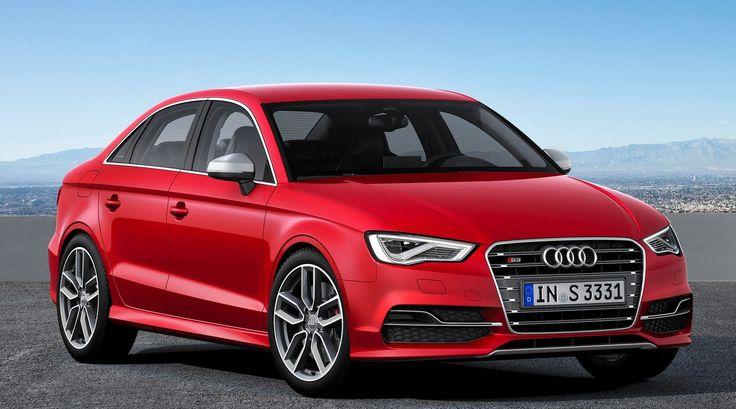 Audi A3 Sedan Glacier Red Car
