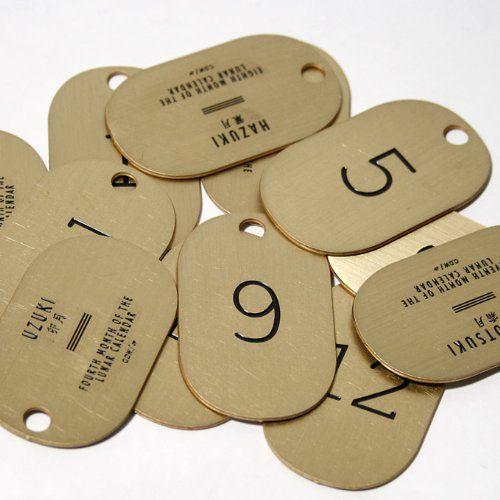 【CANDY DESIGN & WORKS】 キャンディ デザイン&ワークス lunar calendar key tag ルナカレンダー キータグ キーホルダー Brass/Black (ワンサイズ, 10)