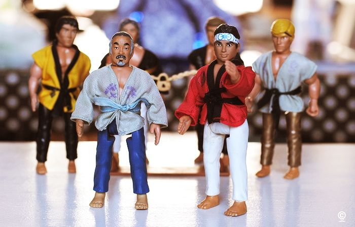 Here is one lot of figures that I always wanted as a kid.  I might have to keep looking for them now so we can relive the movie together.  Your the best!!!!!  #yourthebest #karatekid #foryouson