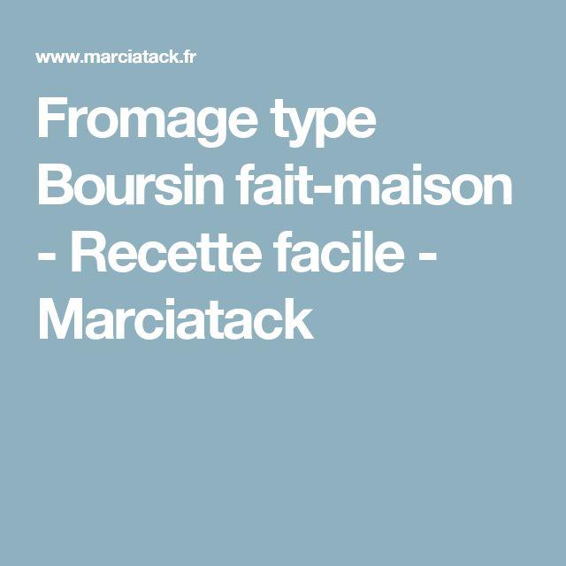 Fromage type Boursin fait-maison - Recette facile - Marciatack