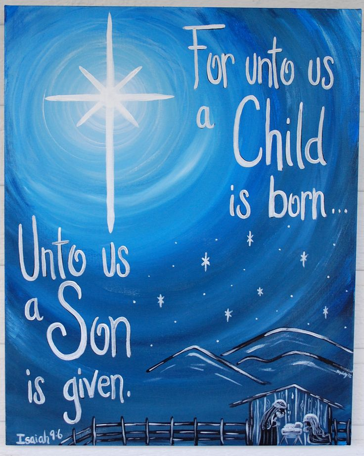 Christmas+Star+Nativity+Painting+Prophecy+by+TheCreatorsCanvas,+$75.00