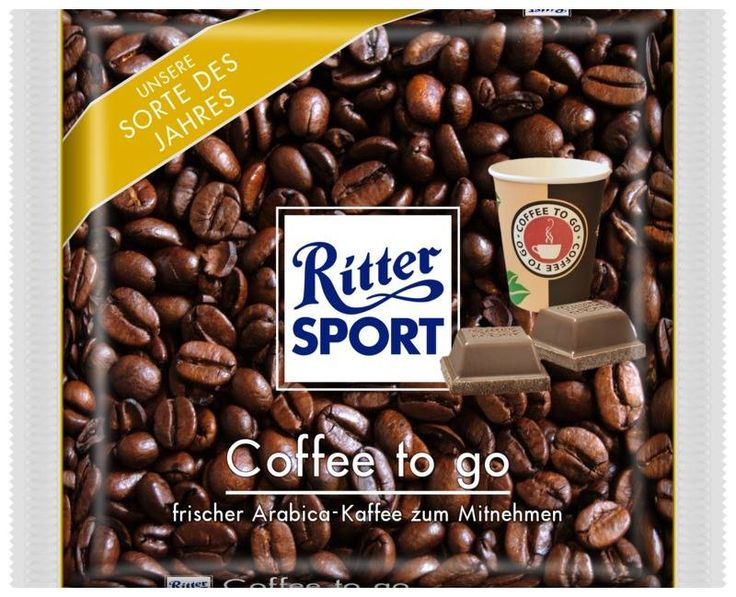 RITTER SPORT Fake Schokolade Coffee to go