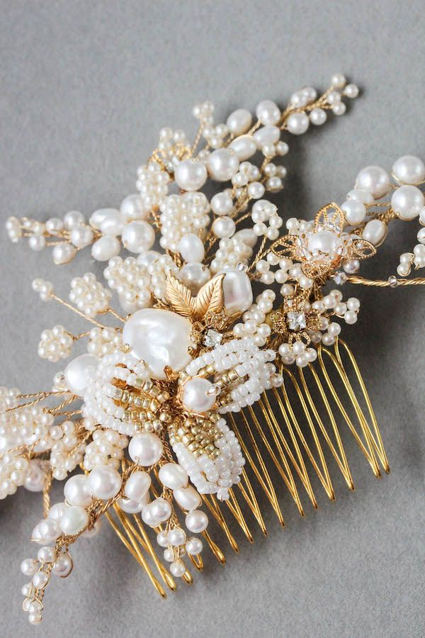 IRIS | Pearl Wedding Hair Comb