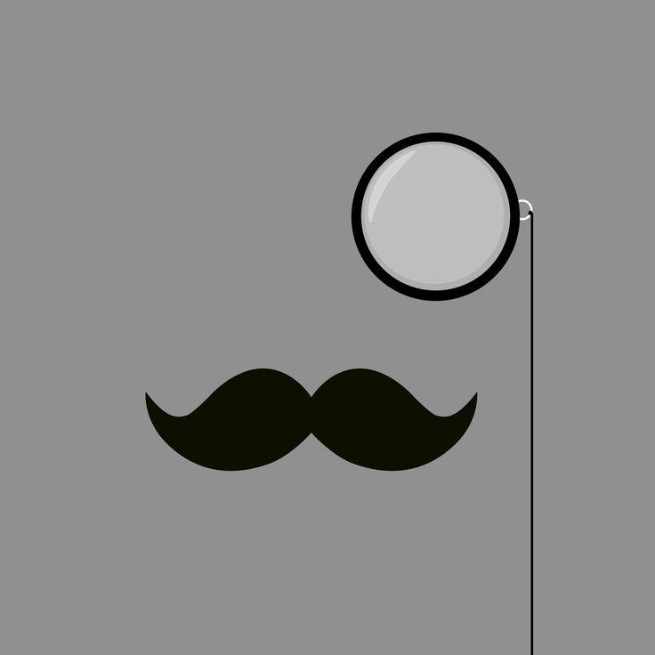 Classy Mustache and Monocle iPad Wallpaper HD #iPad #wallpaper