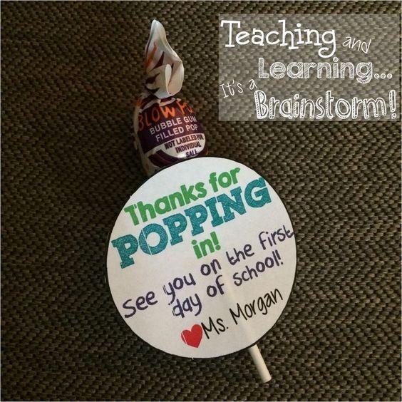 Back to School Open House Treat FREEBIE! (Classroom Brainstorm)