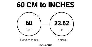 60 centimeters to
