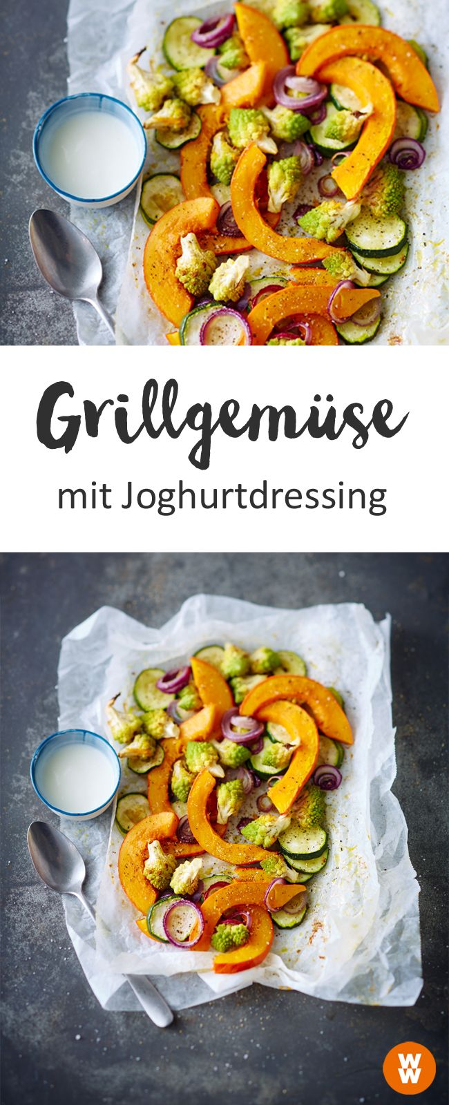 Grillgemüse mit Joghurtdressing, Grill, Barbecue | Weight Watchers