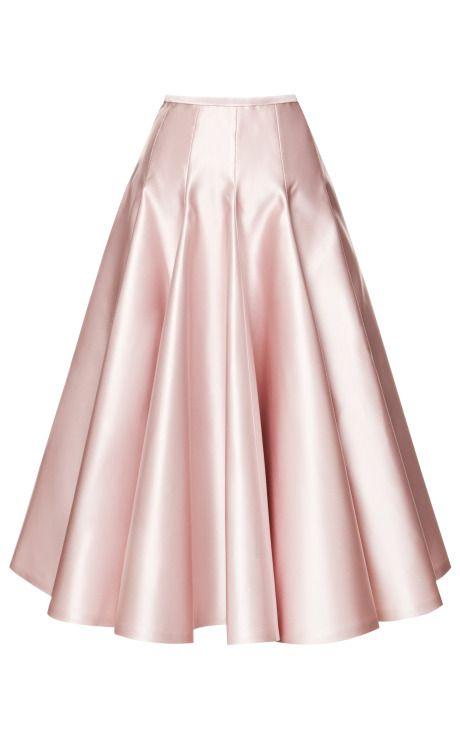Rochas Duchesse Satin A-Line Skirt, price upon request