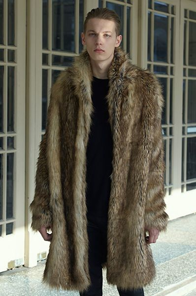 model in fur coat