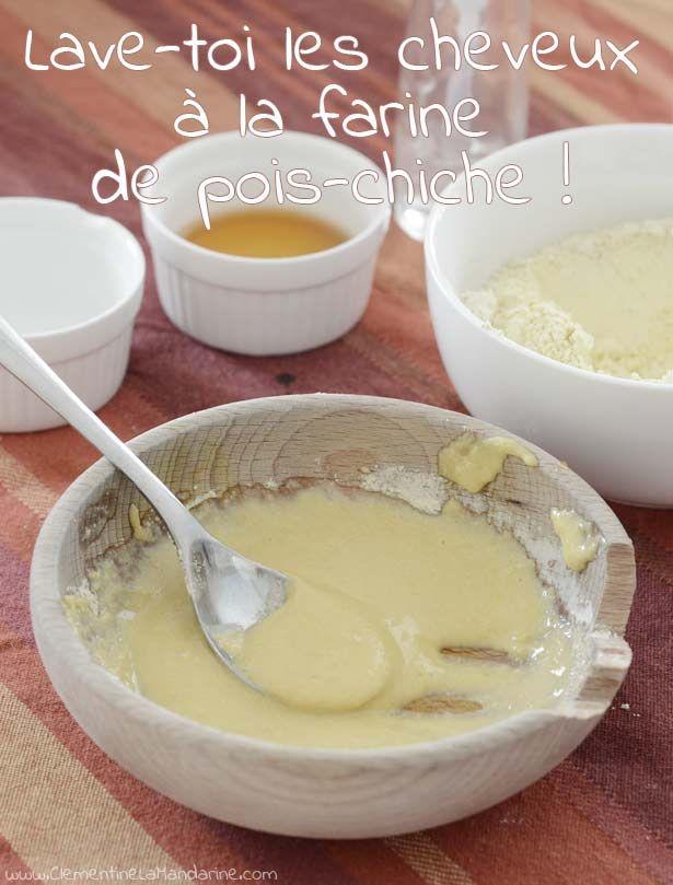Alternative naturelle au shampoing : la farine de pois-chiche
