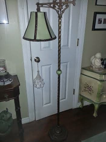 17 best floor lamps images on pinterest antique lighting floor rewiring old lamps making new fabric shades greentooth Gallery
