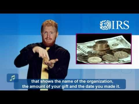 ASL: Charitable Contributions (Captions & Audio) - YouTube