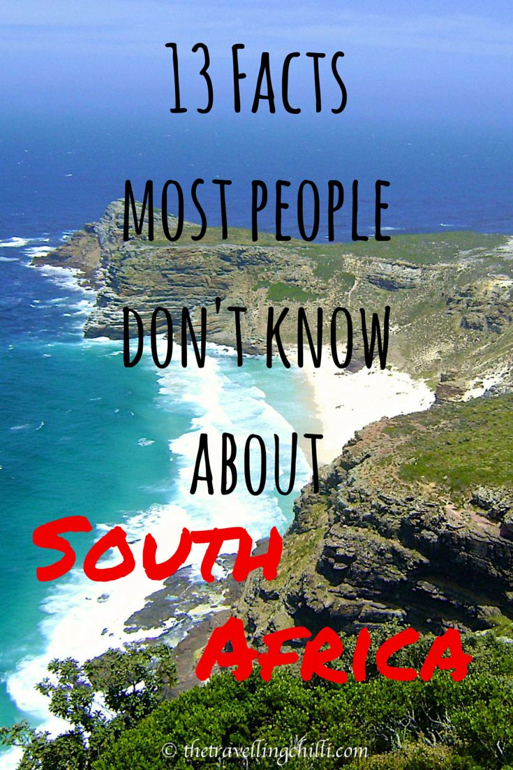 13 Facts most people don't know about South Africa #facts #southafrica #capeofgoodhope