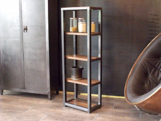 Etag re bois m tal industrielle soph pinterest design for Meuble etagere style industriel