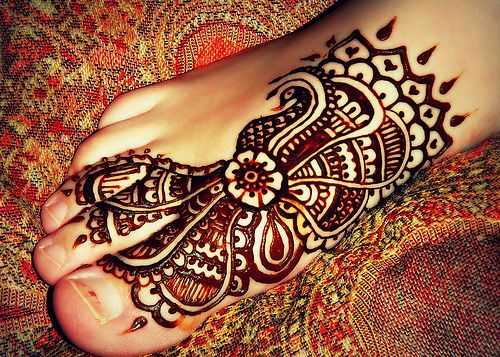 ... flower paisley foot hearts temporary tattoo black brown orange red