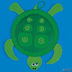 * Schildpad van een bordje...