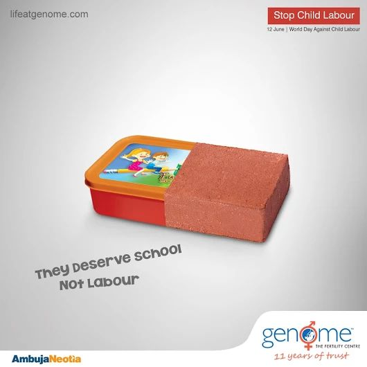 Every child deserves a joyful childhood and quality education. Say 'NO' to child labour and 'YES' to child education.  Genome supports The World Day Against Child Labour