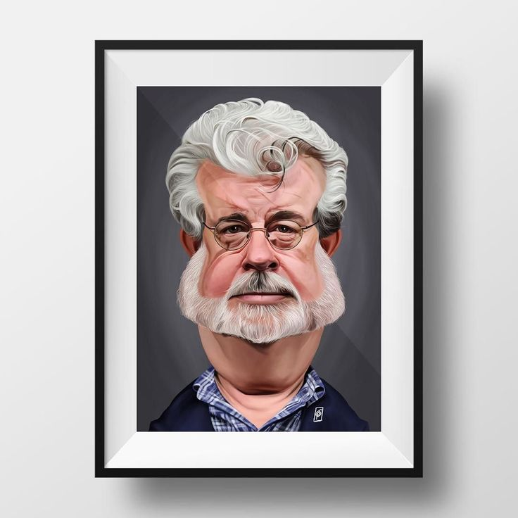 George Lucas | copyright Rob Snow | creative 29017 #art #artist #artwork #artoftheday #illustration #photoshop #portrait #great #cool #digital #digitalart #digitalpainting #caricature #face #georgelucas #starwars #color #robart #robsnowcreative #sketch #draw #drawing #painting #painter #illustrator #wacom #humor #instaartist #instaart instagram | art | ideas | follow