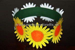 flower spring crown crafts for kids