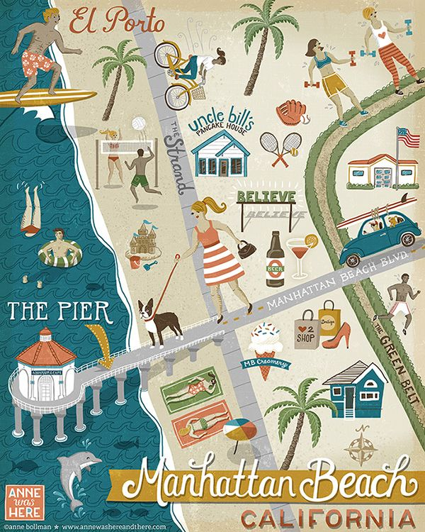 Map of Manhattan Beach on Behance