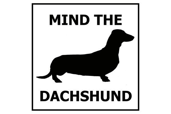 Hey, I found this really awesome Etsy listing at https://www.etsy.com/ca/listing/102520716/mind-the-dachshund-ceramic-doorgate-sign