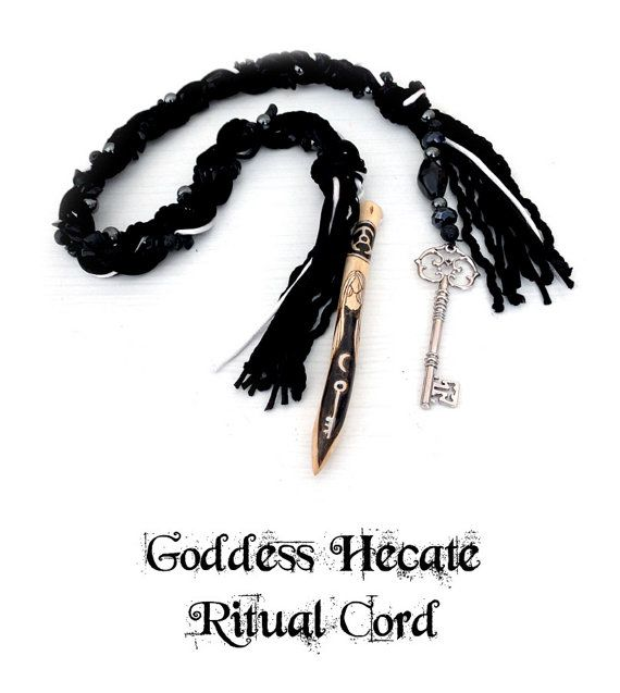 Goddess Hecate Ritual Cord hekate pagan witch by MoonsCraftsUK