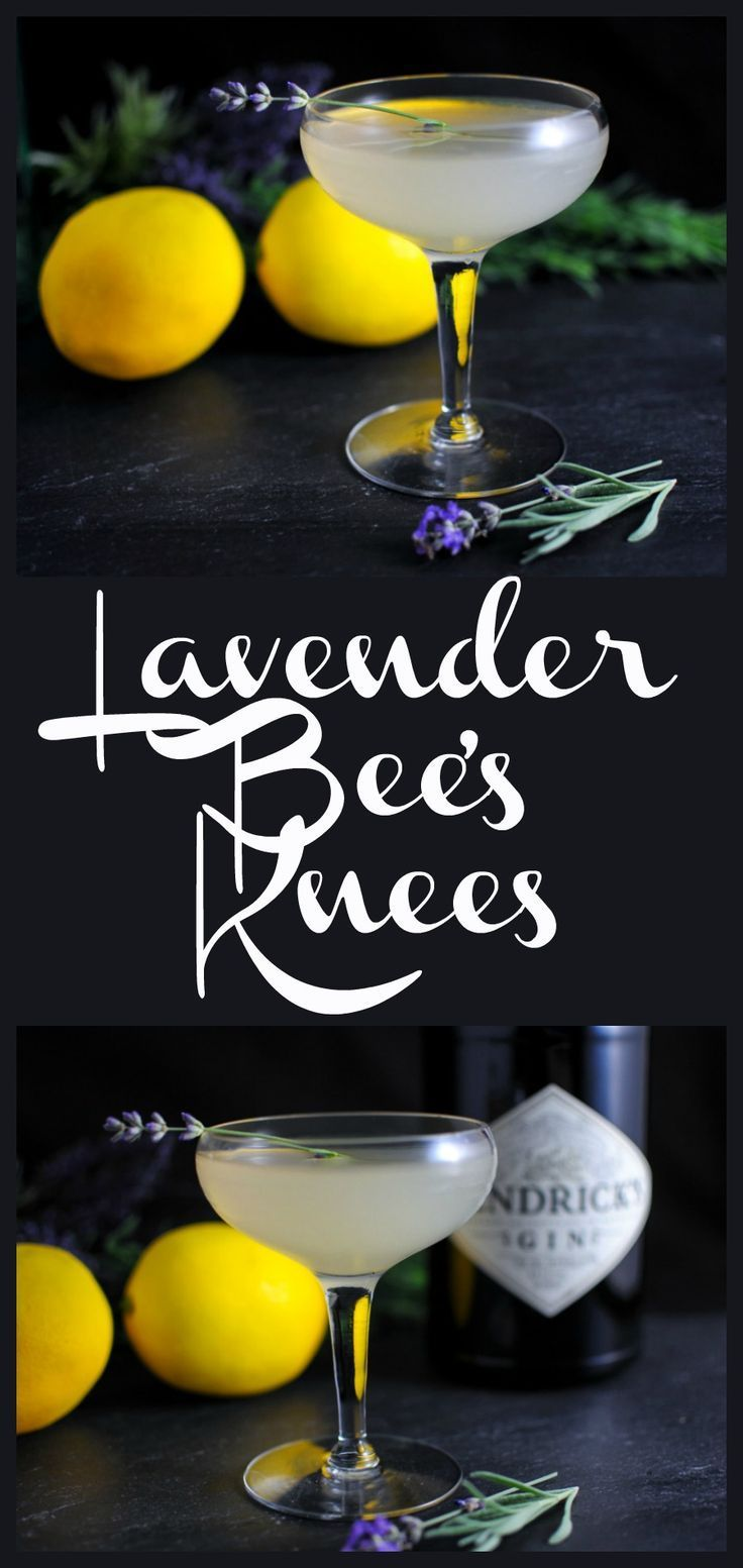 Bee's Knees Cocktail: Gin, Lavender Simple Syrup, honey and lemon juice!