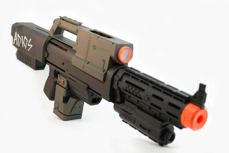 Aliens USCM Pulse Rifle replica (modified Nerf rifle) | iam8bit Productions