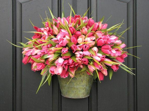 door flower pot