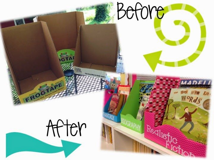 Free/Cheap Classroom Decor Ideas- cover boxes from costco/other stores for reading boxes